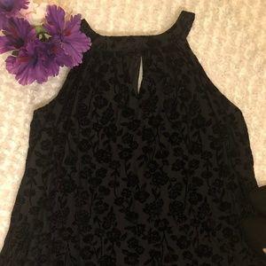 Dresses & Skirts - NWT Sleeveless Black Velvet Floral Dress Size 3X